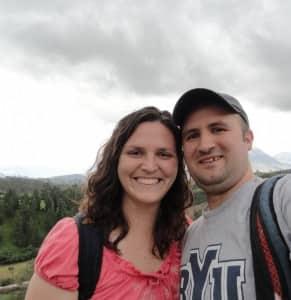 Sean and Jenny Zeller enjoy Otavalo