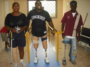 Three patients at Fundación Prótesis para la Vida