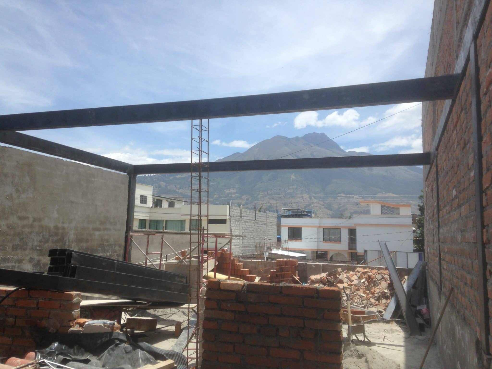 view of Cayambe from second floor